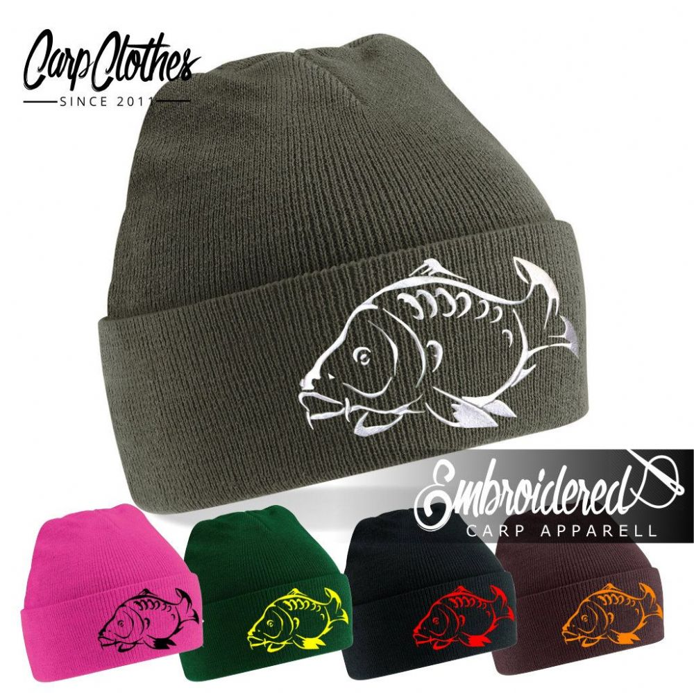 001 EMBROIDERED CARP BEANIE